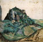 Albrecht Dürer - 1495 Watercolor - View of the Arco