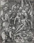 Albrecht Dürer - Monogram in Removing Christ from the Cross