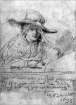 Rembrandt's Sketch of His Wife Saskia