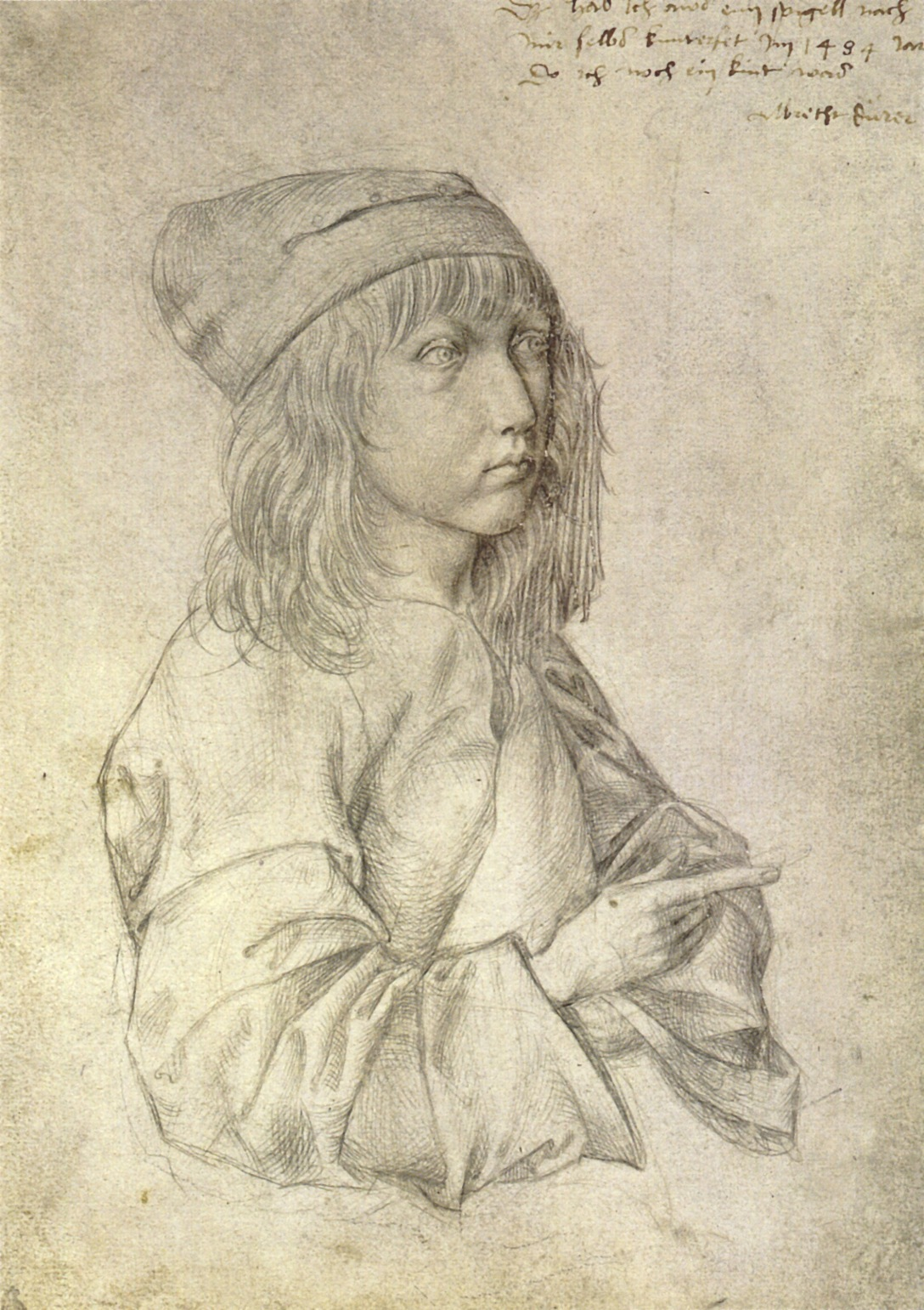"Albrecht Dürer, ""Self-Portrait"" (1484)"