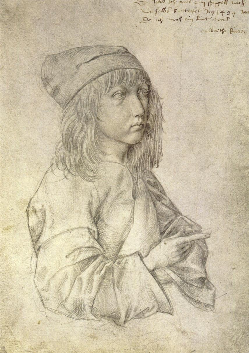 """Albrecht Dürer, """"Self-Portrait"""" (1484)"""