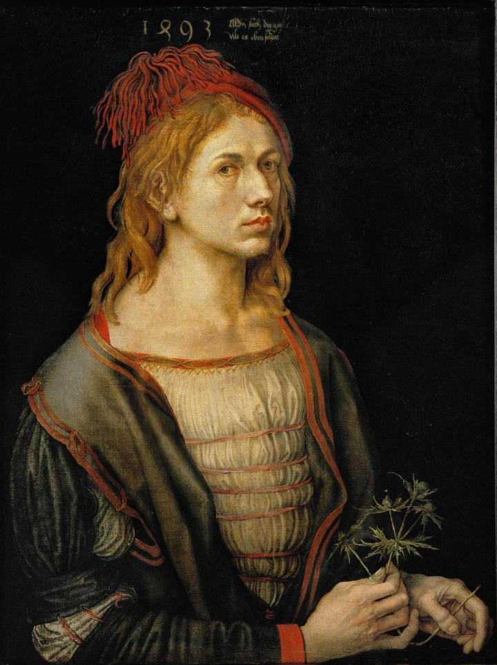 "Albrecht Dürer, ""Self-Portrait"" (1493)"