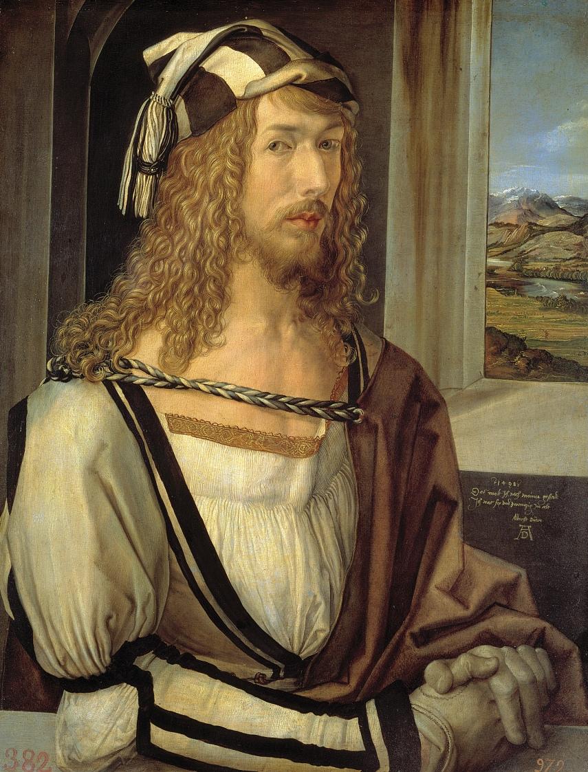 """Albrecht Dürer, """"Self-Portrait"""" (1498)"""