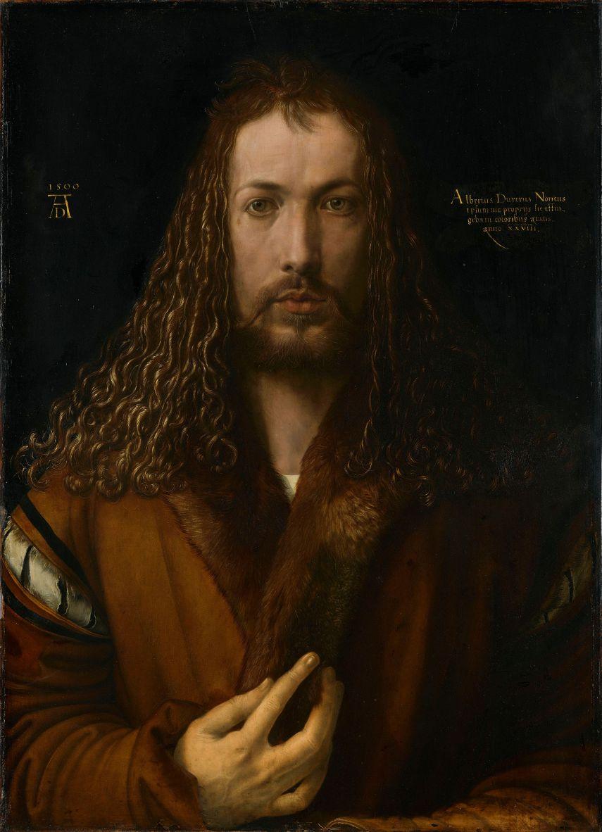 """Albrecht Dürer, """"Self-Portrait"""" (1500)"""