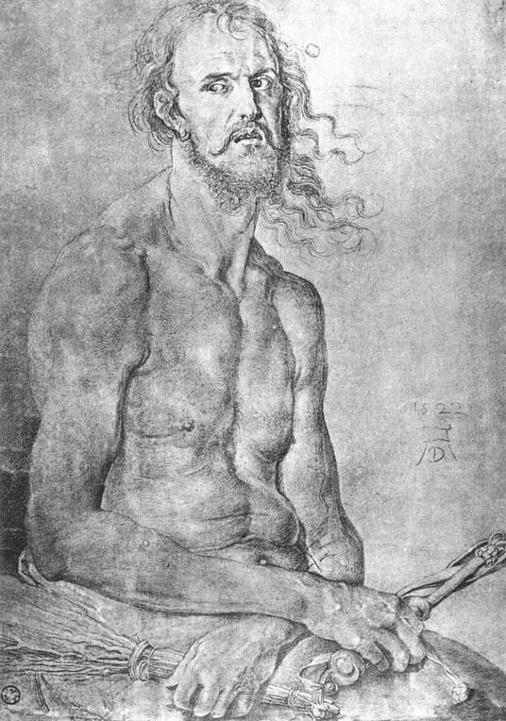 "Albrecht Dürer, ""Self-Portrait"" (1522)"