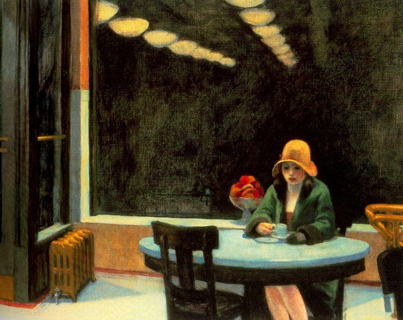 """Edward Hopper, """"Automat"""" (1927)"""