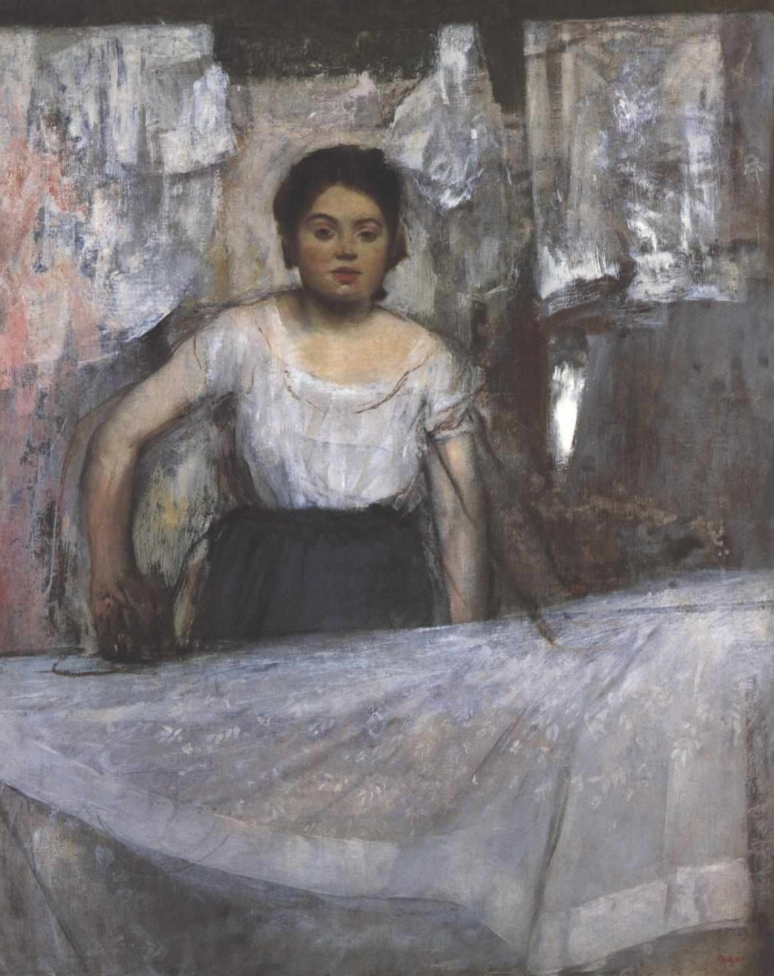 "Edgar Degas, ""Woman Ironing"" (c. 1869)"