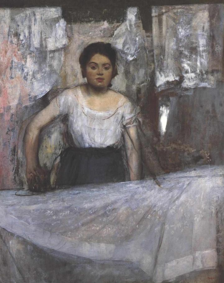 """Edgar Degas, """"Woman Ironing"""" (c. 1869)"""