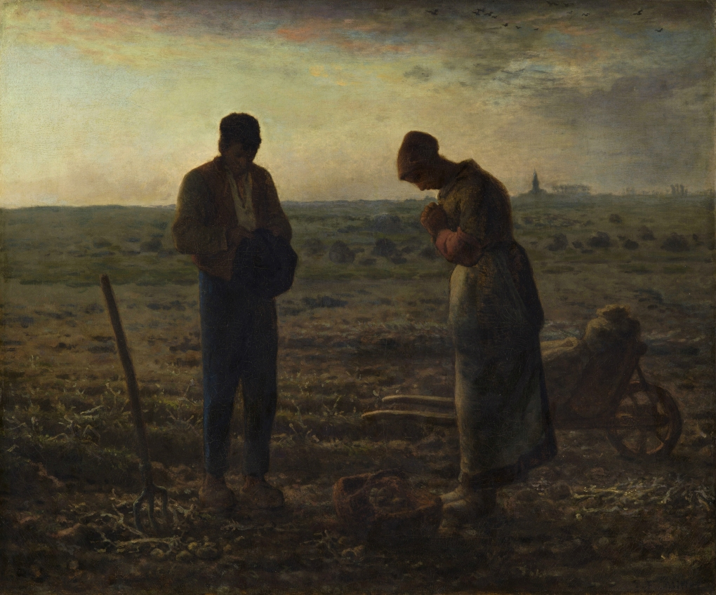 Jean-Francois Millet - The Angelus (1857-1859)