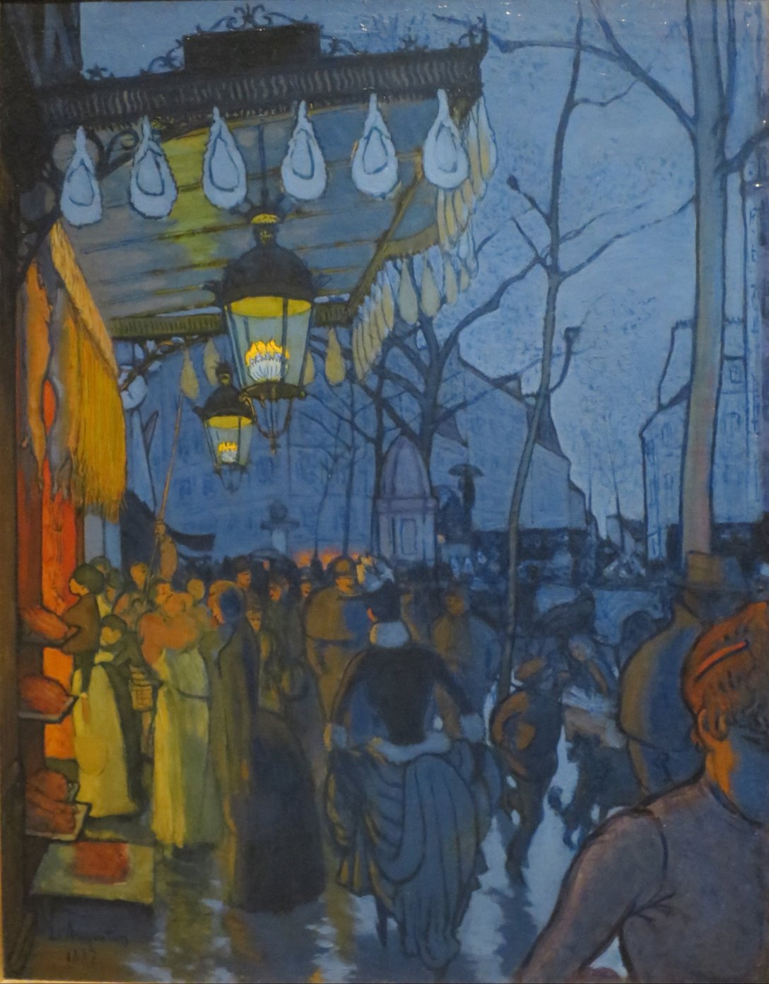 Louis Anquetin - Avenue de Clichy, Five O'Clock in the Evening (1887)