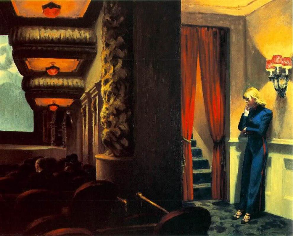 """Edward Hopper, """"New York Movie"""" (1939)"""