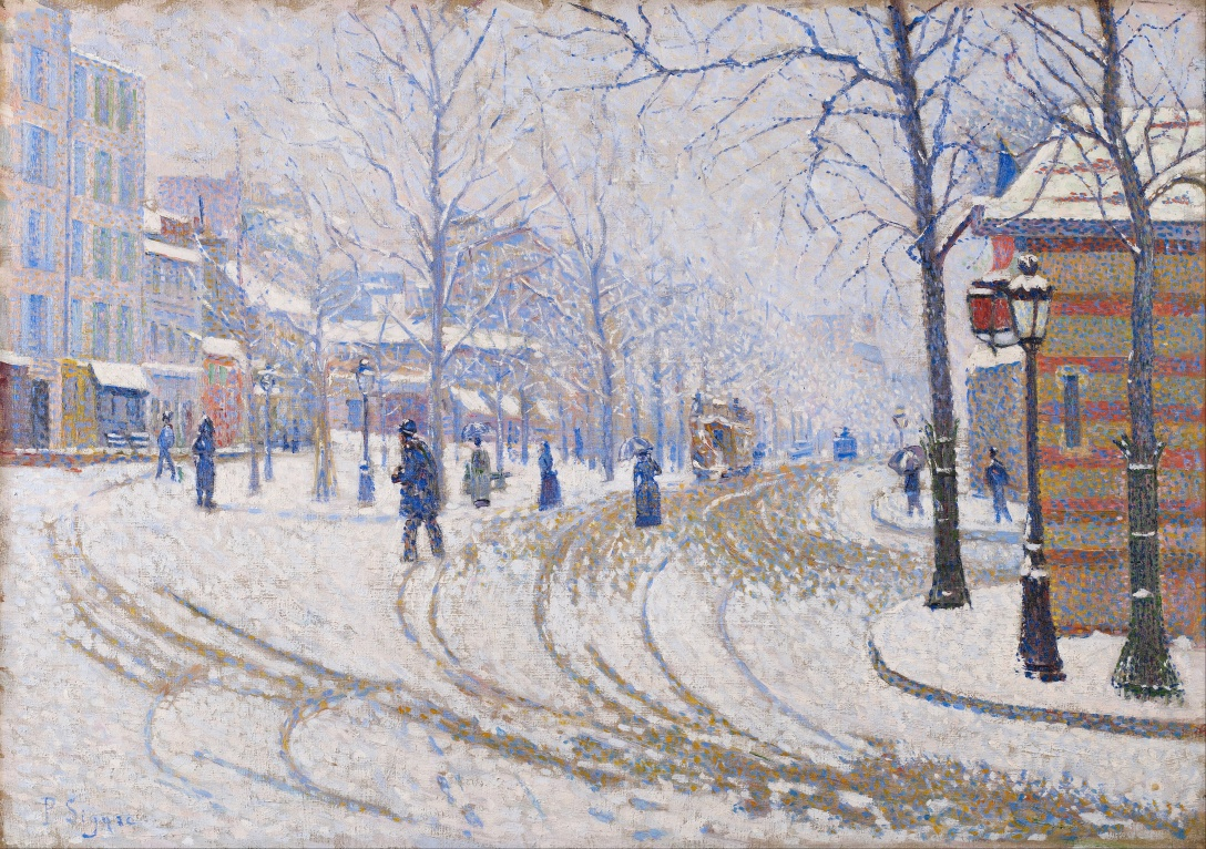 Paul Signac - The Boulevard de Clichy under Snow (1886)