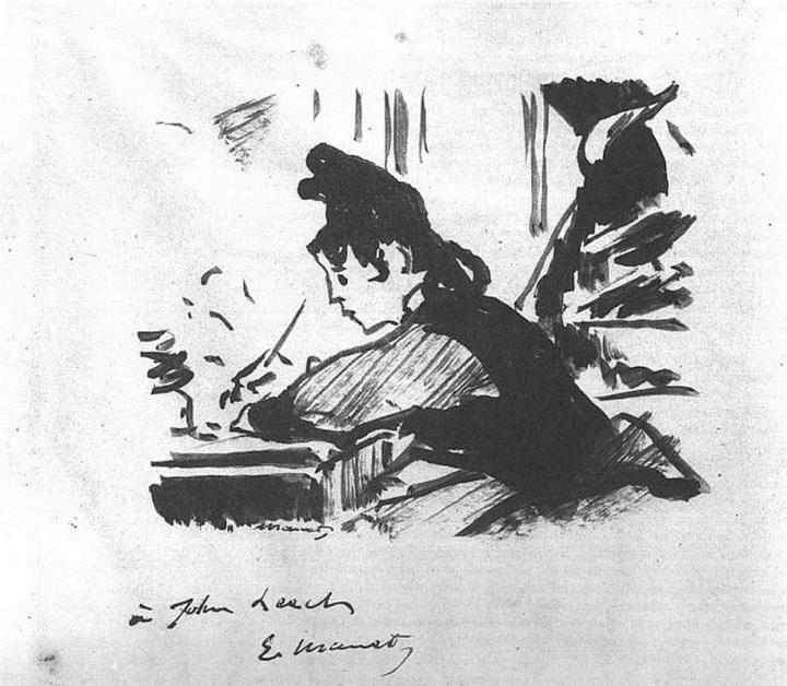 Edouard Manet - Woman Writing (1863)