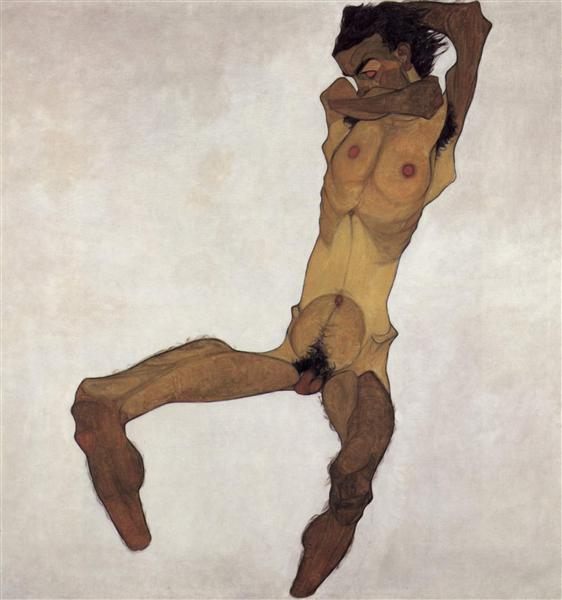 Egon Schiele - Self Portrait (1910)