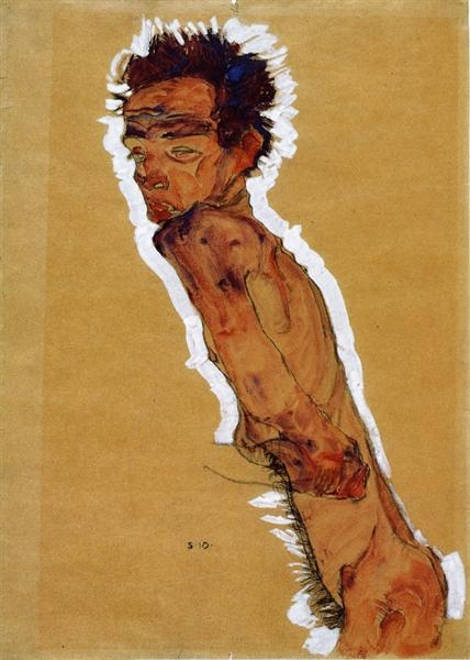 Egon Schiele - Self Portrait 1910