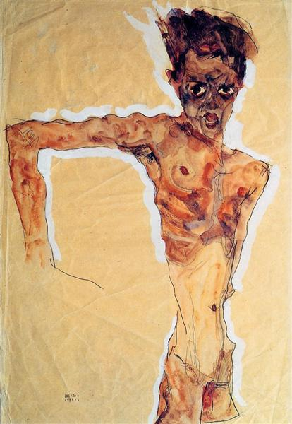 Egon Schiele - Self Portrait (1911)
