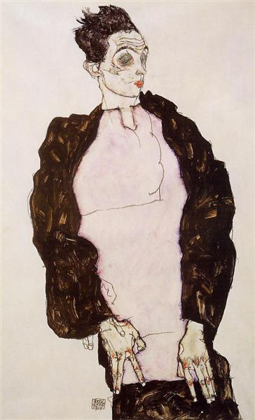 Egon Schiele - Self Portrait (1914)