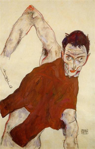 Egon Schiele - Self Portrait 1914