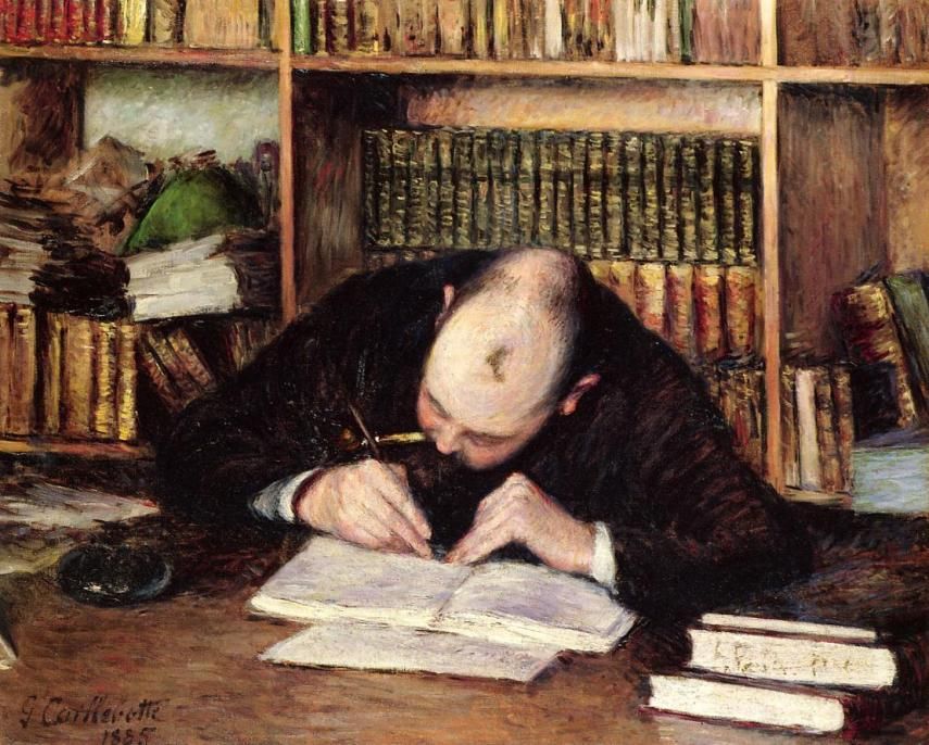 Gustave Caillebotte - Portrait of a Man Writing in His Study (1885)