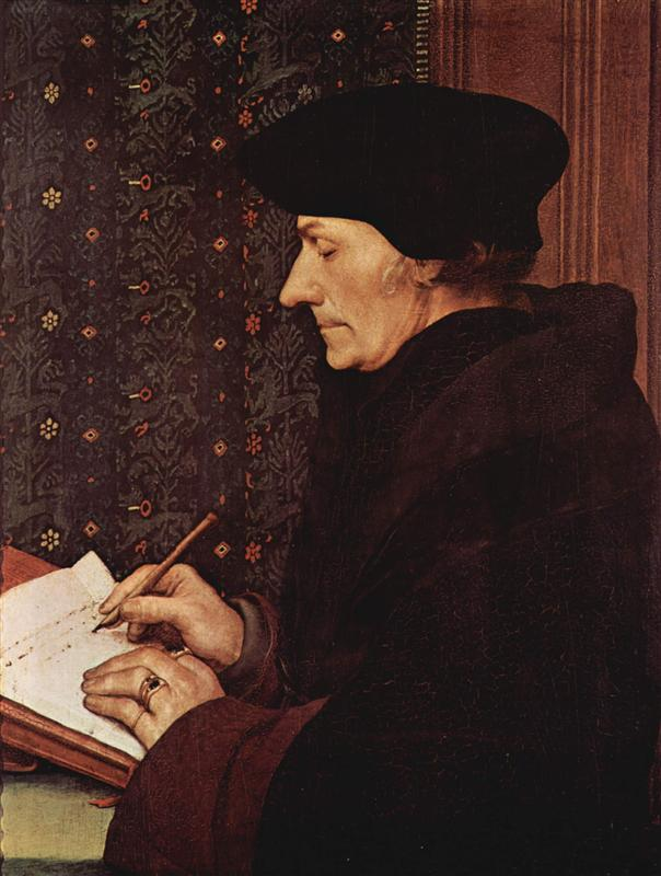 Hans Holbein the Younger - Portrait of Desiderius Erasmus (1523)