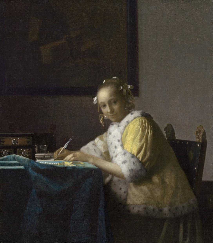 Johannes Vermeer - Lady Writing (1665)