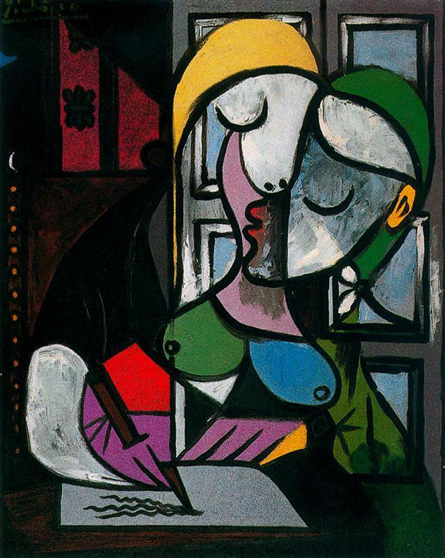 Pablo Picasso - Woman Writing (1934)