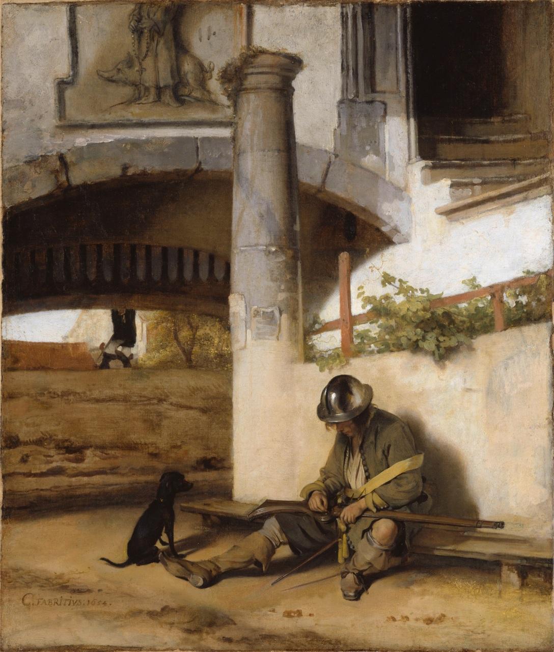 Carel Fabritius - The Sentry - 1654