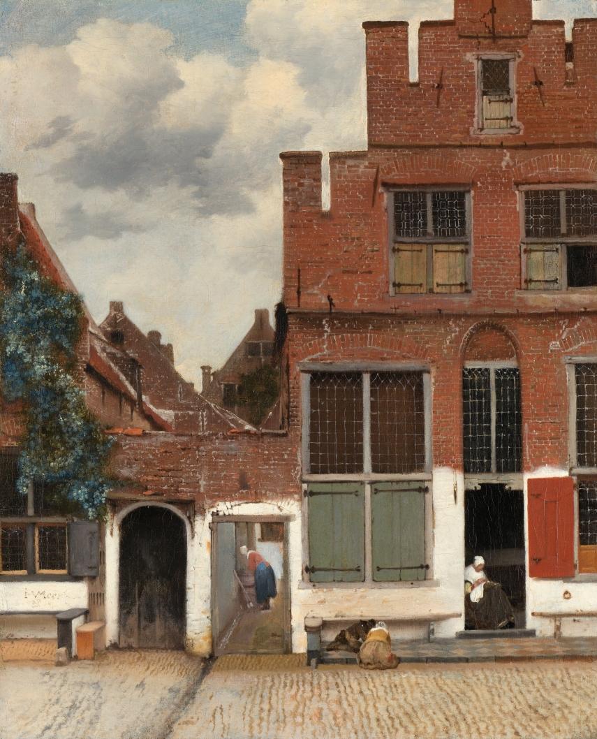 Johannes Vermeer - The Little Street - c.1657-1658