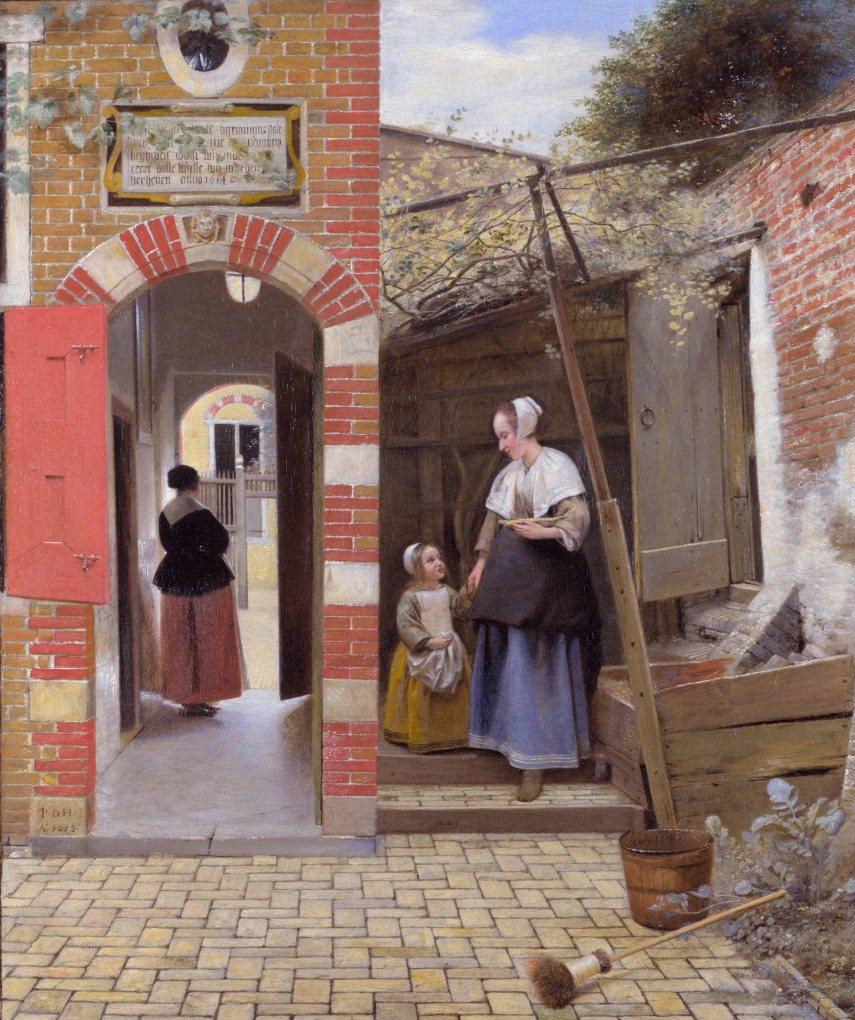 Pieter de Hooch - The Courtyard of a House in Delft - 1658