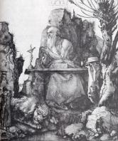 Albrecht Durer - St. Jerome by the Pollard Willow - 1512