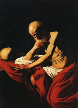 Caravaggio - St. Jerome Meditation - 1606