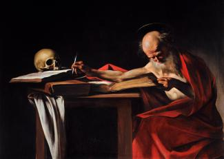 Caravaggio - St. Jerome Writing - 1606