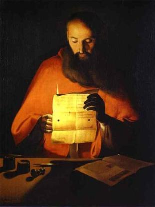 Georges de la Tour - St. Jerome Reading - c. 1650