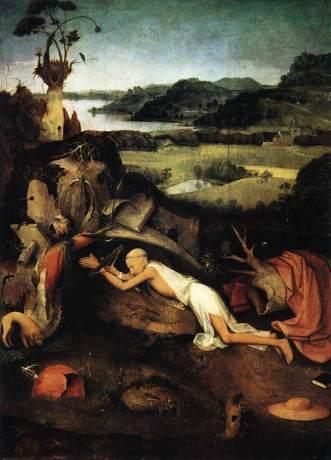 Hieronymous Bosch - St. Jerome Praying - c. 1476-1500