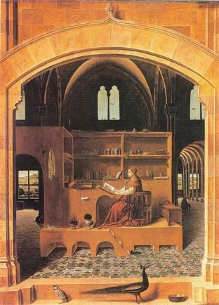St. Jerome in His Study - Antonello da Messina - c. 1475