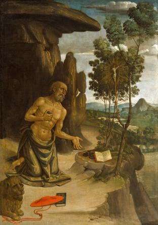 St. Jerome in the Wilderness - Bernardino Pinturicchio - c. 1480