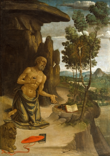St. Jerome in the Wilderness - Bernardino Pinturicchio - c. 1480