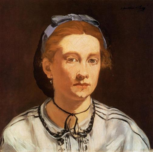 Manet - Victorine Meurent in Blue Hat - 1862