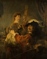 Rembrandt - Self-Portrait with Saskia in the Parable of the Prodigal Son - 1635