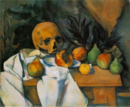 Cezanne - Still Life with Skull - 1898