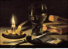 Claesz - Still Life with a Burning Candle - 1627