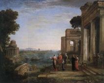 Claude Lorrain - Aeneas and Dido in Carthage - 1675