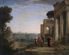 Claude Lorrain - Aeneas and Dido in Carthage - 1675