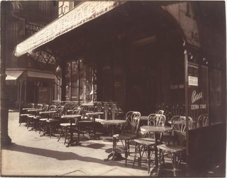 Eugène Atget - Café Avenue de la Grande-Armée