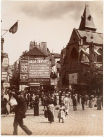 Eugène Atget - Small Market in Front of the Church Place Saint-Medard