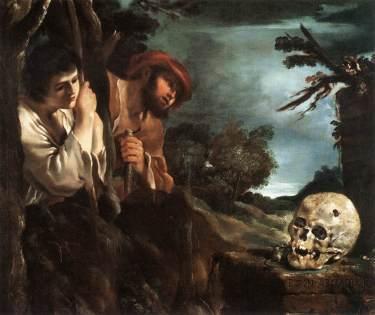 Guercino - Shepherds of Arcady (Et in Arcadia Ego) - 1622