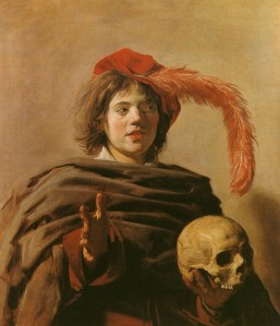 Hals - Young Man with Skull - 1628