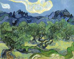 Van Gogh - Alpine Grove with Olive Trees in the Foreground - 1889