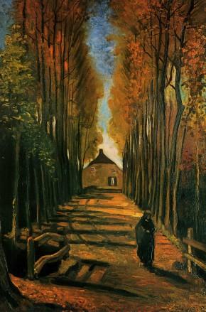 Van Gogh - Avenue of Poplars at Sunset - 1884