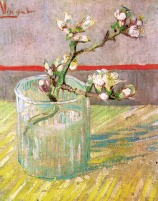 Van Gogh - Blossoming Almond Branch in a Glass - 1888